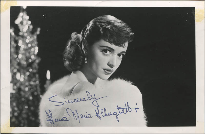 Image 1 for Anna Maria Alberghetti - Autographed Signed Photograph - HFSID 344071