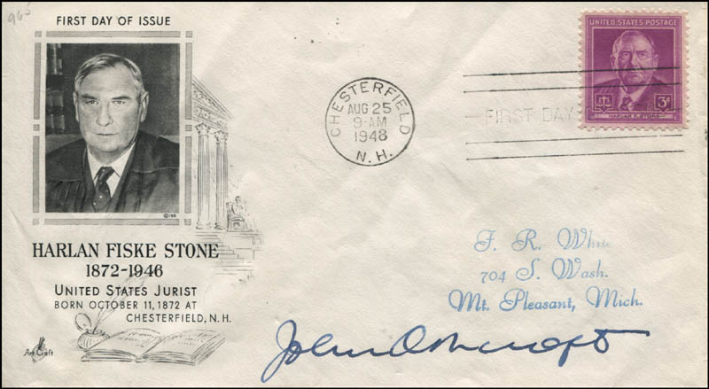 Image 1 for John Ashcroft - First Day Cover Signed - HFSID 344088