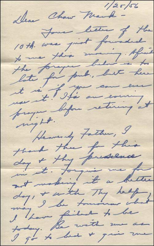 Image 3 for Lyle Bettger - Autograph Letter Signed 01/25/1956 - HFSID 344095