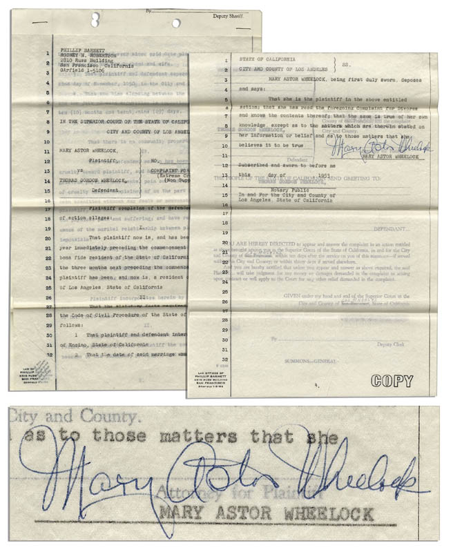 Image 2 for Mary Astor - Document Signed 1953 - HFSID 344189