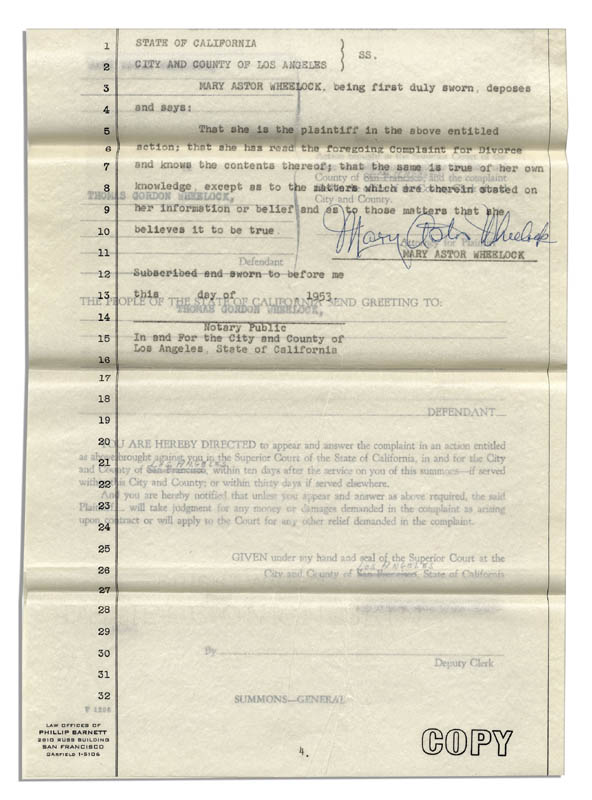 Image 4 for Mary Astor - Document Signed 1953 - HFSID 344189