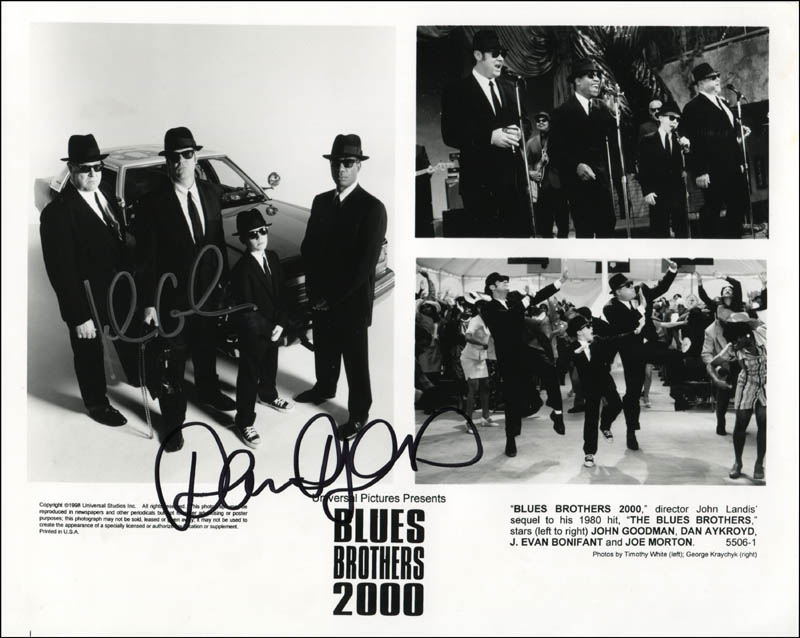 Image 1 for Blues Brothers 2000 Movie Cast - Printed Photograph Signed In Ink co-signed by: Dan Aykroyd, John Goodman - HFSID 344327