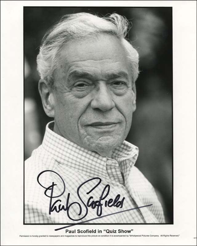 Image 1 for Paul Scofield - Printed Photograph Signed In Ink - HFSID 344333