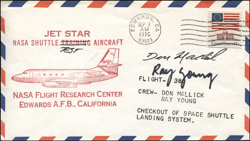 Image 1 for Lt. Commander Donald L. Mallick - First Day Cover Signed co-signed by: Colonel Ray (William Ray) Young - HFSID 344357