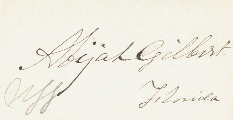 Image 1 for Abijah Gilbert - Autograph - HFSID 34442
