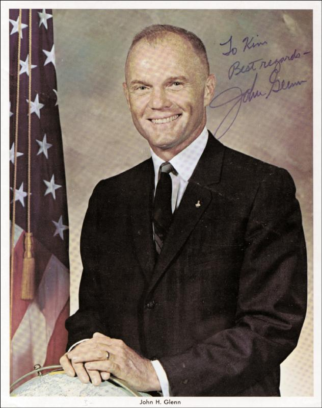 Image 1 for John Glenn - Autographed Inscribed Photograph - HFSID 34445