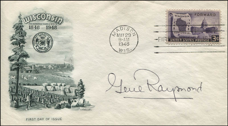 Image 1 for Gene Raymond - First Day Cover Signed - HFSID 344512