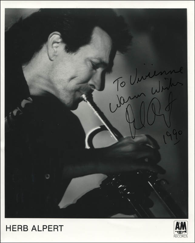 Image 1 for Herb Alpert - Inscribed Printed Photograph Signed In Ink 1990 - HFSID 344524