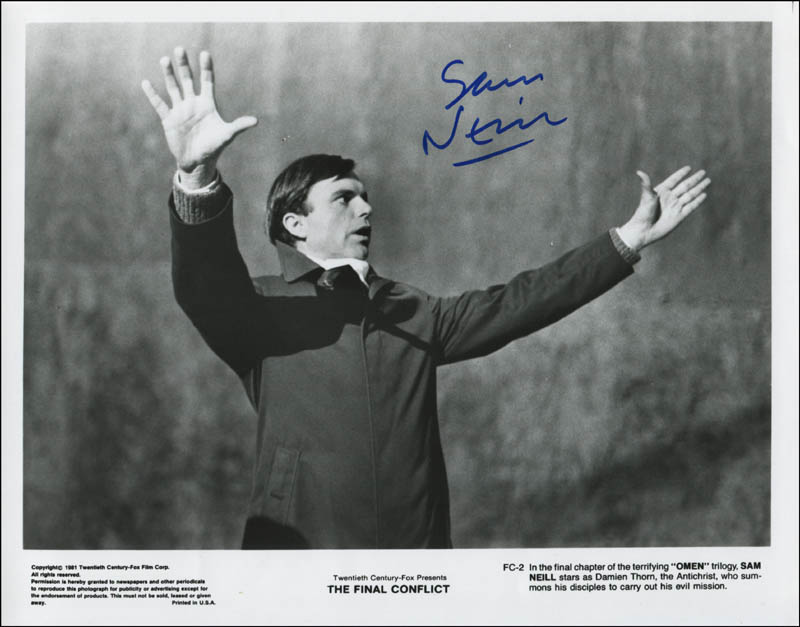 Image 1 for Sam Neill - Printed Photograph Signed In Ink - HFSID 344538