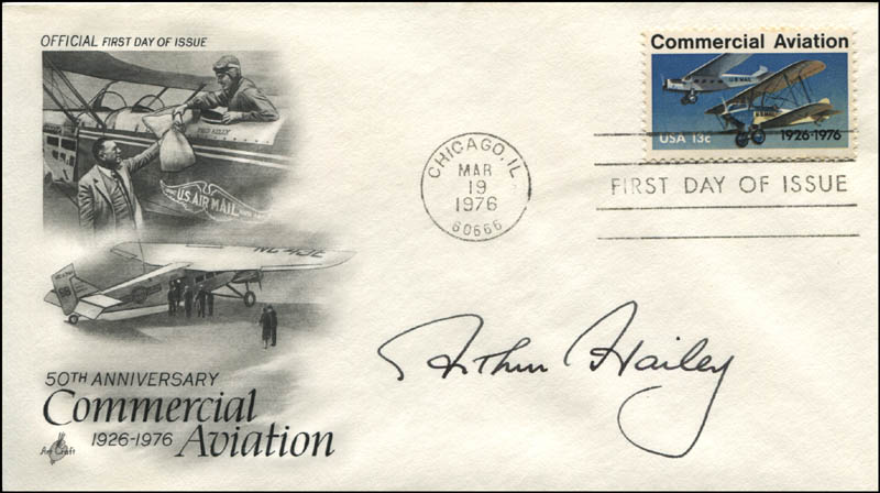 Image 1 for Arthur Hailey - First Day Cover Signed - HFSID 344557