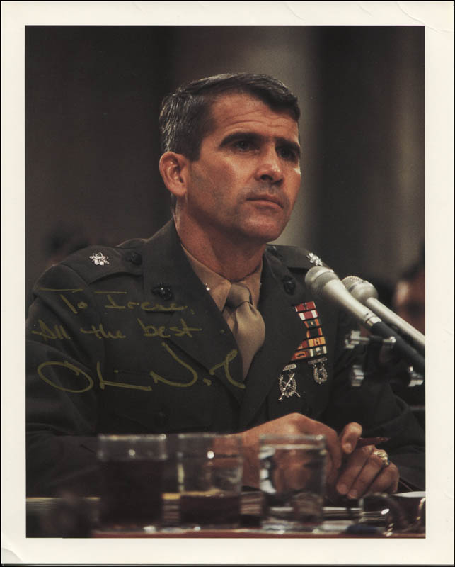 Image 1 for Lt. Colonel Oliver L. North - Autographed Inscribed Photograph - HFSID 344565