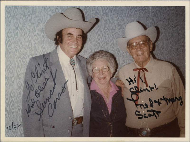 Image 1 for Sunset Carson - Autographed Inscribed Photograph co-signed by: Fred L. 'The Singing Buckaroo' Scott - HFSID 344585