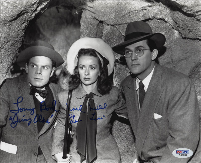 Image 1 for Superman Movie Cast - Autographed Signed Photograph co-signed by: Tommy 'Butch' Bond, Noel Neill - HFSID 344727