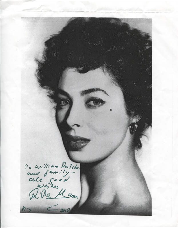 Image 1 for Rita Gam - Autographed Inscribed Photograph 2010 - HFSID 344834