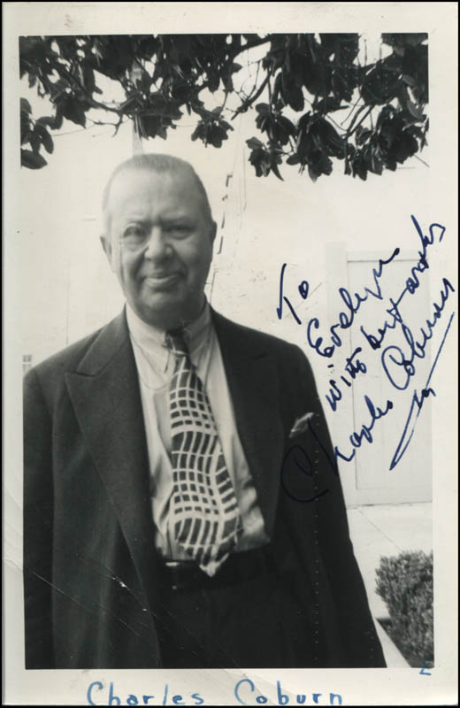 Image 1 for Charles D. Coburn - Autographed Inscribed Photograph - HFSID 344866