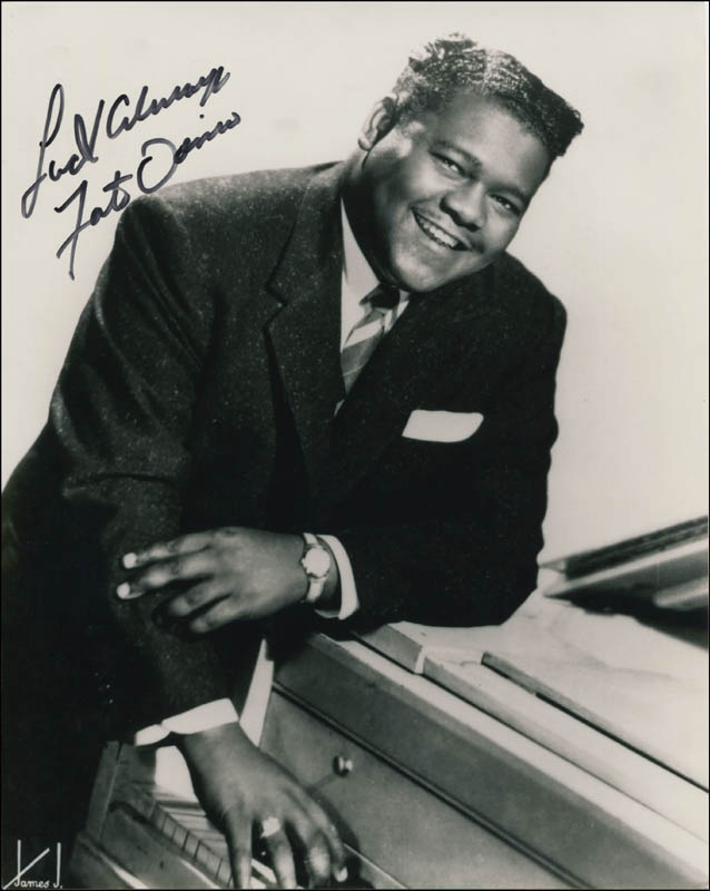 Image 1 for Fats Domino - Autographed Signed Photograph - HFSID 344934