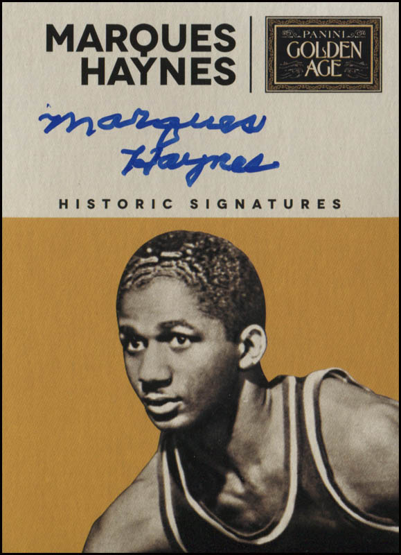 Image 1 for Marques Haynes - Trading/Sports Card Signed - HFSID 345048