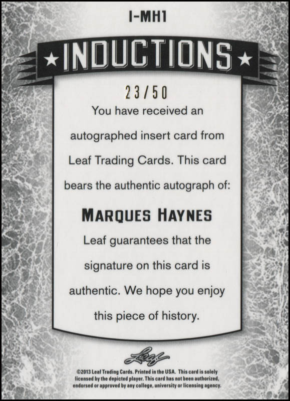 Image 3 for Marques Haynes - Trading/Sports Card Signed - HFSID 345049
