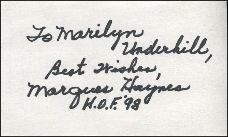 Image 1 for Marques Haynes - Autograph Note Signed - HFSID 345061