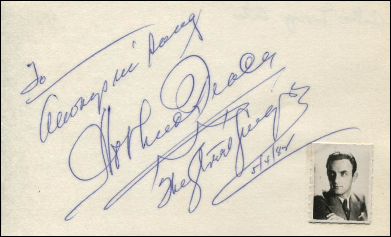Image 1 for Arthur Tracy - Autograph Note Signed 05/04/1984 - HFSID 345266
