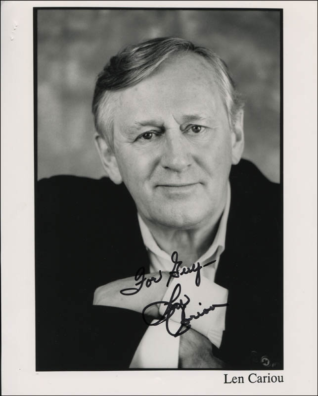 Image 1 for Len Cariou - Inscribed Printed Photograph Signed In Ink - HFSID 345283