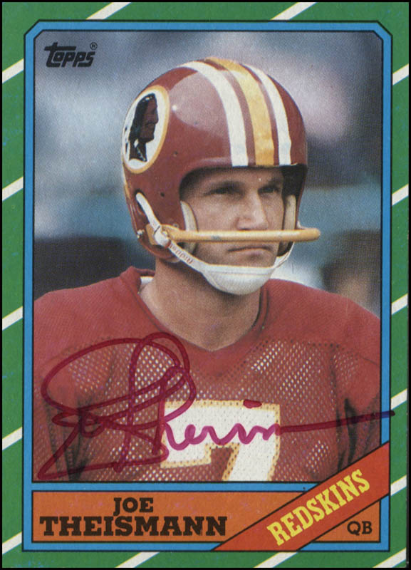 Image 1 for Joe Theismann - Trading/Sports Card Signed - HFSID 345331
