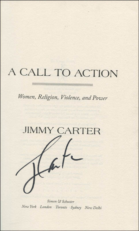 Image 1 for President James E. 'Jimmy' Carter - Book Signed - HFSID 345344