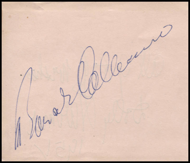 Image 1 for Bonar Colleano - Autograph Circa 1951 co-signed by: Dolly Harmer - HFSID 345361