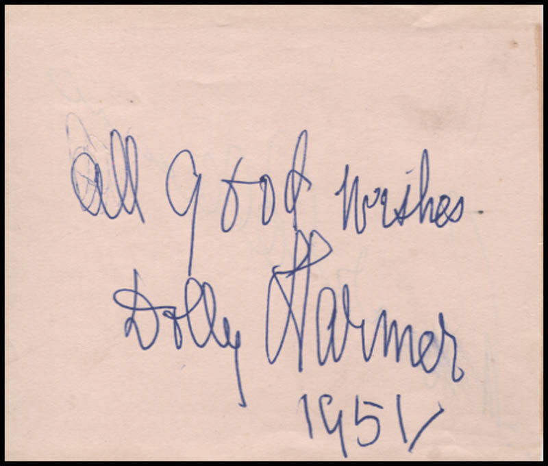 Image 3 for Bonar Colleano - Autograph Circa 1951 co-signed by: Dolly Harmer - HFSID 345361