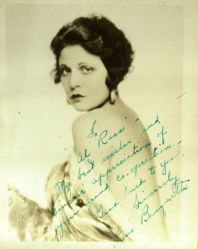 Image 1 for Lina Basquette - Autograph Note On Photograph Signed - HFSID 345398