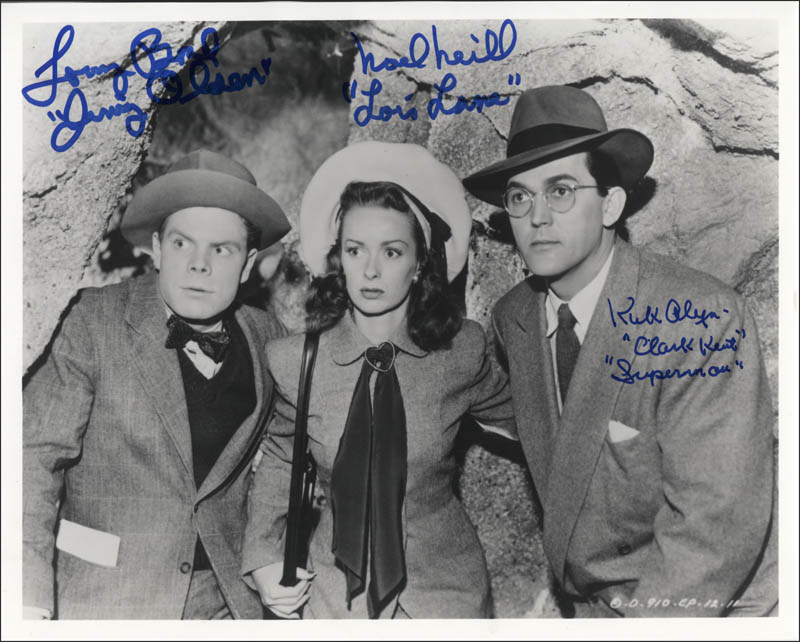Image 1 for Superman Movie Cast - Autographed Signed Photograph co-signed by: Tommy 'Butch' Bond, Noel Neill, Kirk Alyn - HFSID 345477