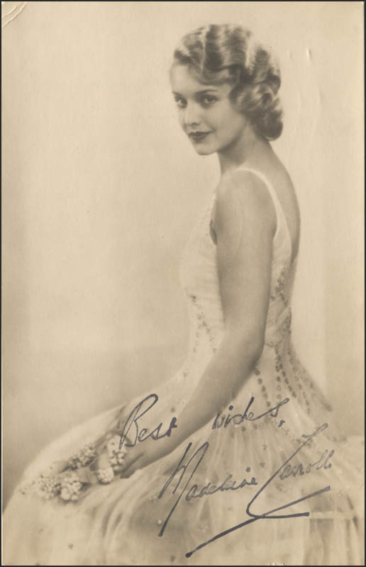 Image 1 for Madeleine Carroll - Autographed Signed Photograph - HFSID 345483