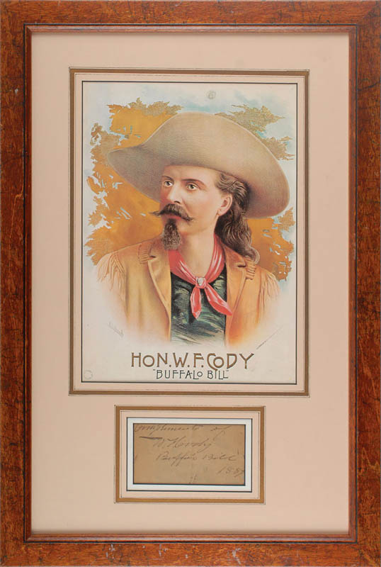 Image 1 for William F. 'Buffalo Bill' Cody - Autograph Sentiment Signed 1889 - HFSID 345621