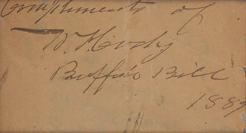 Image 3 for William F. 'Buffalo Bill' Cody - Autograph Sentiment Signed 1889 - HFSID 345621