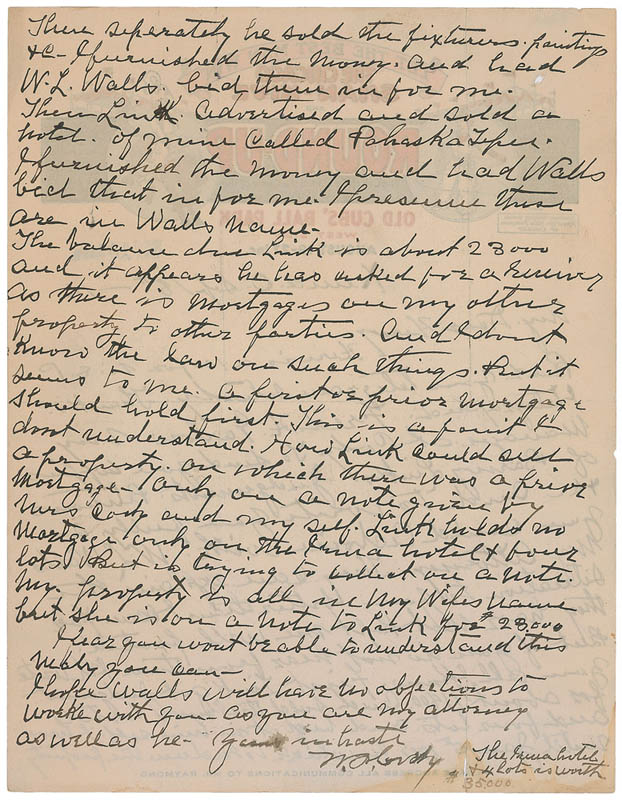 Image 3 for William F. 'Buffalo Bill' Cody - Autograph Letter Signed 09/18/1916 - HFSID 345622