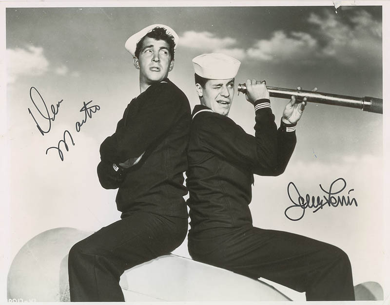 Image 1 for Sailor Beware Movie Cast - Autographed Signed Photograph co-signed by: Dean Martin, Jerry Lewis - HFSID 345898