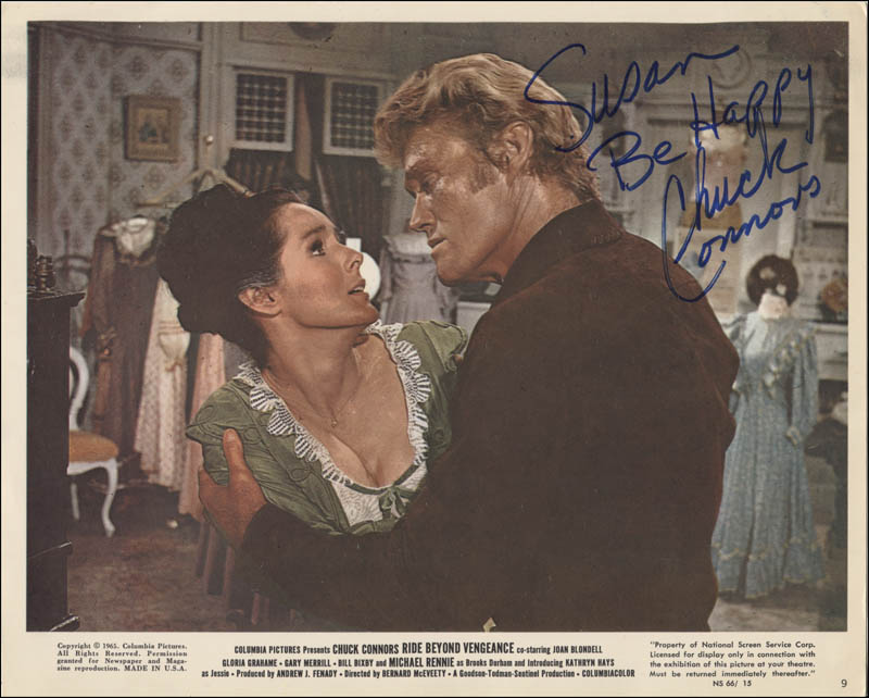 Image 1 for Chuck Connors - Inscribed Lobby Card Signed - HFSID 345901