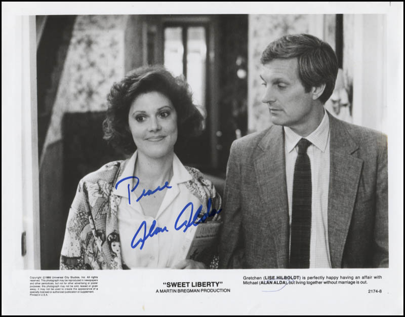 Image 1 for Alan Alda - Printed Photograph Signed In Ink - HFSID 345967