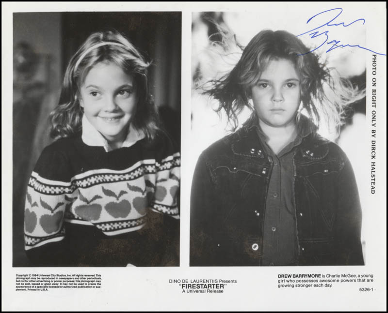 Image 1 for Drew Barrymore - Printed Photograph Signed In Ink - HFSID 345971