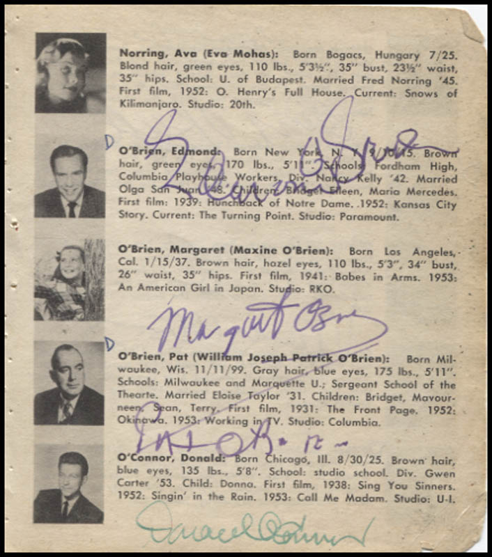 Image 3 for Maureen O'Hara - Book Page Signed with co-signers - HFSID 346125