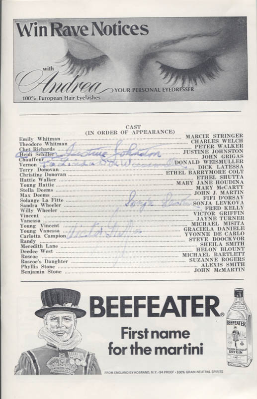 Image 3 for Follies Play Cast - Show Bill Signed with co-signers - HFSID 346147