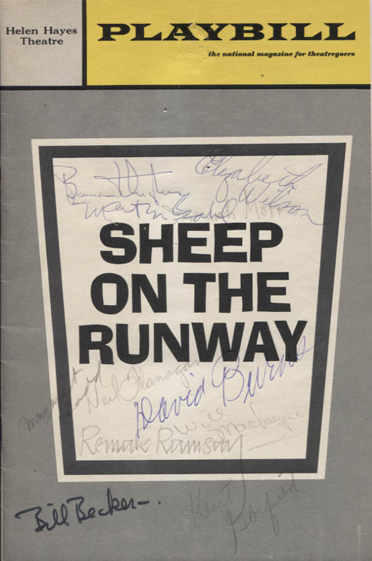 Image 1 for Sheep On The Runway Play Cast - Show Bill Signed with co-signers - HFSID 346149
