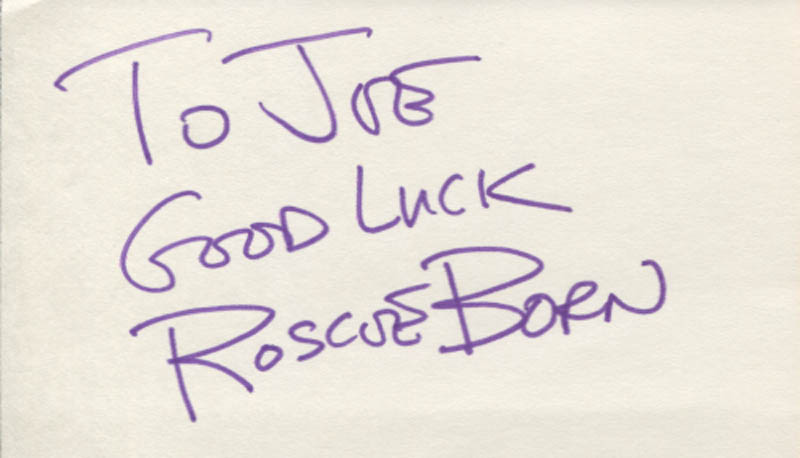 Image 1 for Roscoe Born - Autograph Note Signed - HFSID 346184