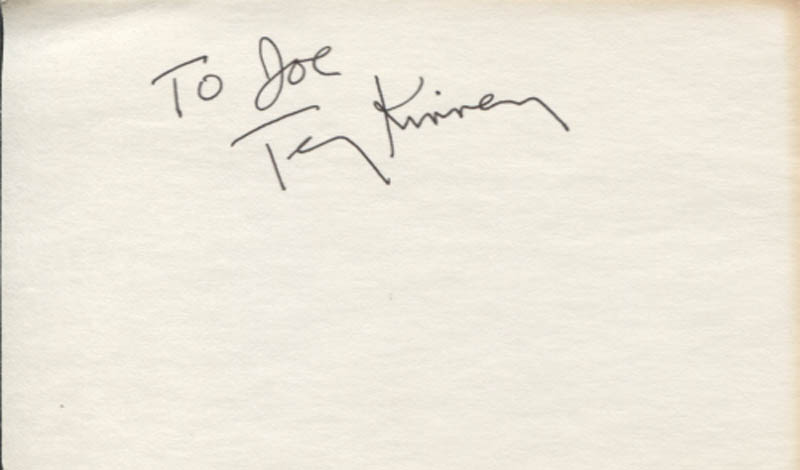 Image 1 for Terry Kinney - Inscribed Signature - HFSID 346190
