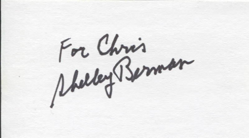 Image 1 for Shelley Berman - Inscribed Signature - HFSID 346252