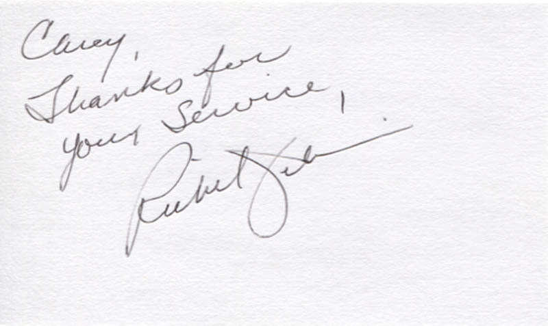 Image 1 for Richard Jenkins - Autograph Note Signed - HFSID 346272