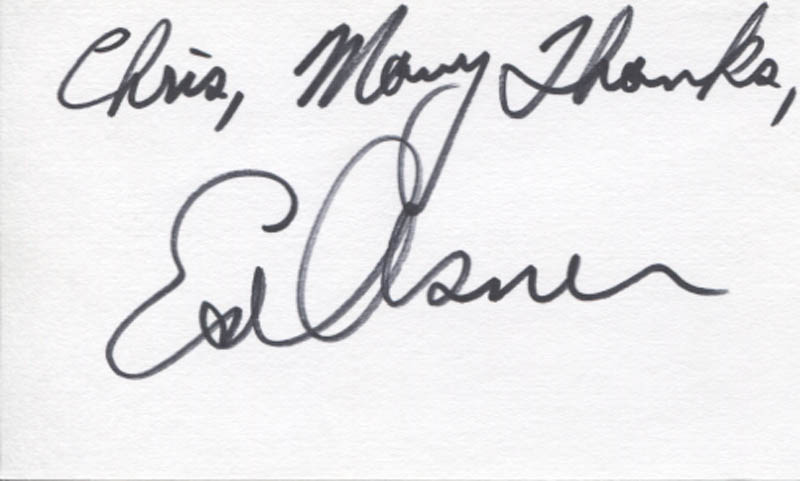 Image 1 for Ed Asner - Autograph Note Signed - HFSID 346284