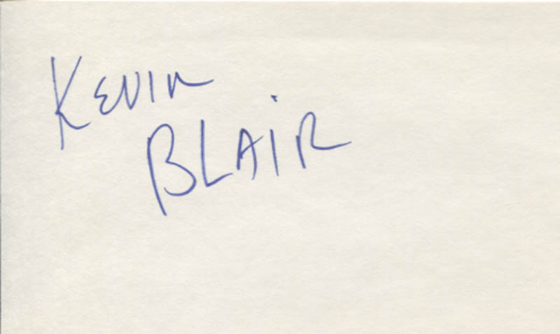 Image 1 for Kevin Blair - Autograph - HFSID 346423