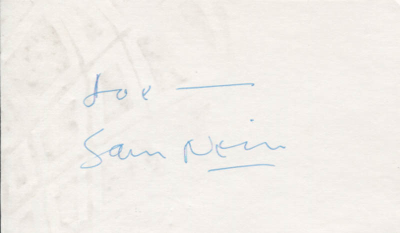 Image 1 for Sam Neill - Inscribed Signature - HFSID 346466