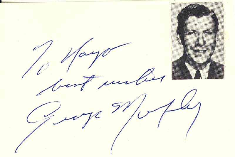 Image 1 for George Murphy - Autograph Note Signed - HFSID 34659